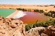 Kontrast -  Natron- und Süsswassersee in der Sahara, Seen von Ounianga Kebir