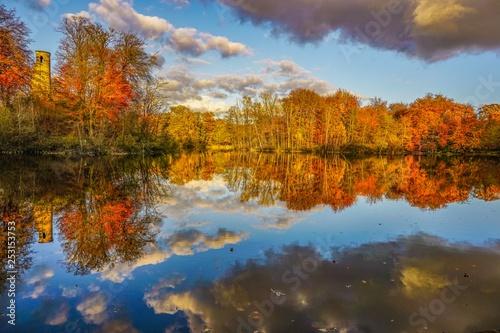 mata magnetyczna Wonderful lake in Germany