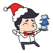 christmas cartoon of kawaii boy - 253162558