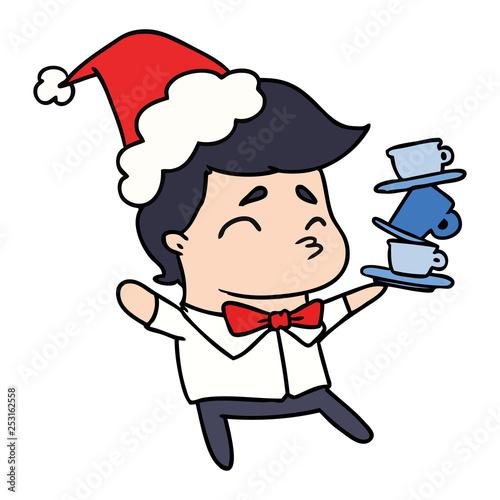 christmas cartoon of kawaii boy - 253162558