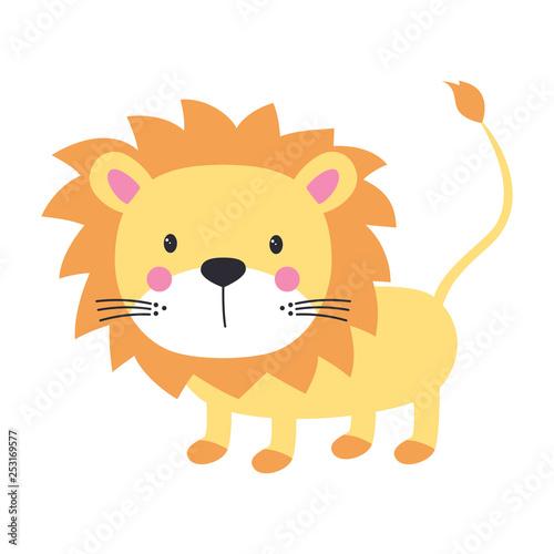 obraz lub plakat funny kids print lion