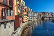 Leinwanddruck Bild - Beautiful View of Girona, Spain