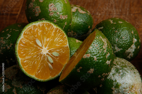 rangpur lime, or limao cravo in Portuguese. - 253184981