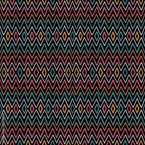 obraz lub plakat geometric striped pattern