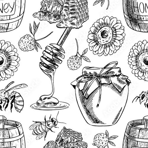 seamless honey background