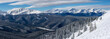 Panoramic View Looking Toward Breckenridge from Keystone's South Bowl in Colorado