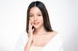 Leinwanddruck Bild - Beautiful Young asian Woman with Clean Fresh Skin