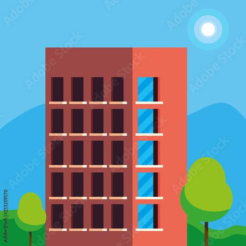 building construction city scene