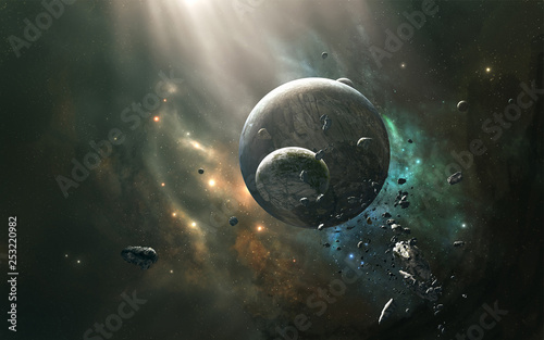 planet in space © sabarudin