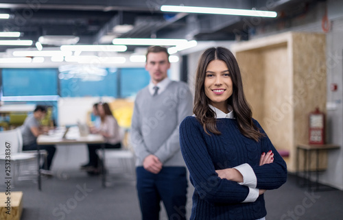 Portrait of successful Business couple - 253238367