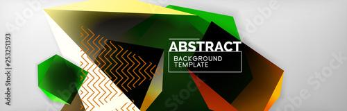 Minimalistic geometric abstract background - 253251393