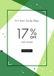 St. Patrick's Day sale banner with stylish background for social media, ads and email design, web site, flyer, shop poster, display, promotional material and announcement.