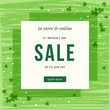 St. Patrick's Day sale banner for social media, ads, email design, web site, flyer, shop poster, display, advertising print, promotional material and announcement.