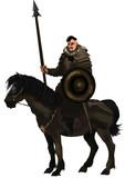 Fototapeta Konie - knight in armour © murat