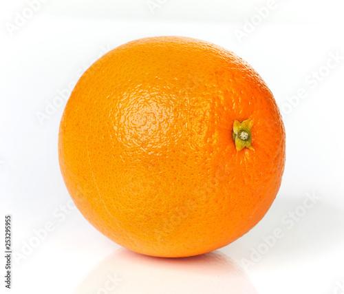 Orange fruit on white background.