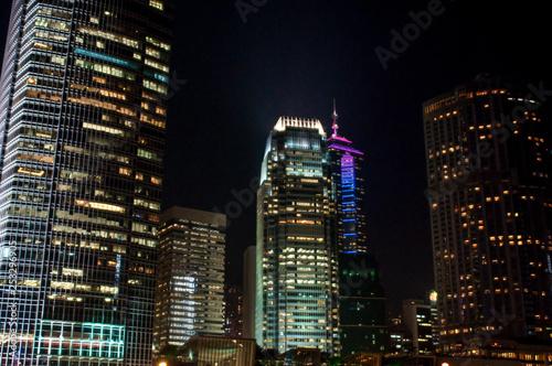 IFC 2 Tower, Hong Kong Island at night, Hong Kong, China