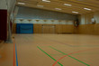 canvas print picture - Sporthalle mit Fußball