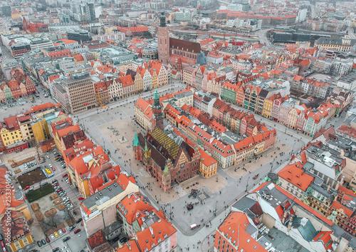Leinwandbild Motiv Wroclaw from above