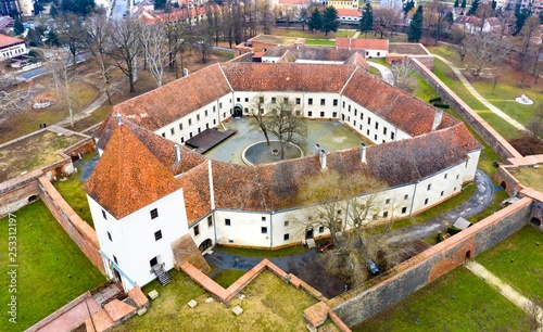 Castle from above in Sarvar Hungary