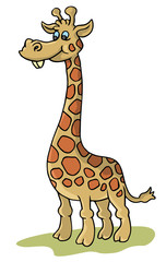 coloring pages for childrens with funny animals,giraffe