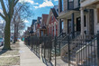 A Row of Fenced In Homes in Logan Square Chicago