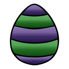 quirky gradient shaded cartoon easter egg