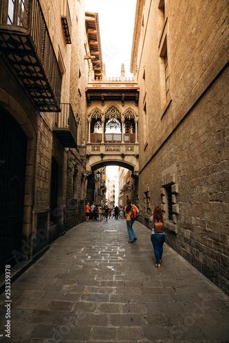 Barcelona, gothic quarter - 253359378