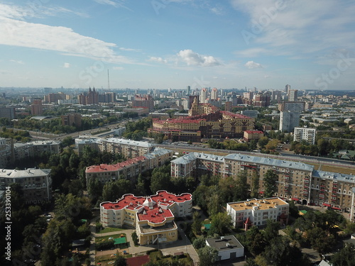 Panorama sity copter moscow  - 253390104