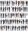 collage of young business people standing in a row. - 253396191