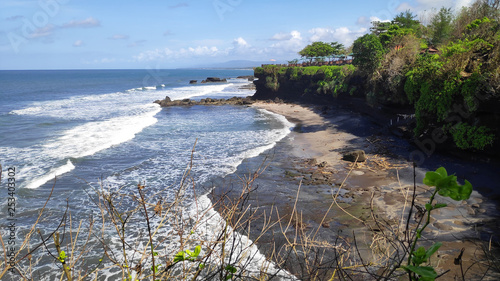 Cliff of Tanah Lot temple in Bali