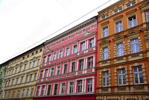 Colorful houses of the city of Szczecin.