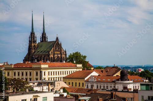 obraz lub plakat Beautiful view of the city of Brno (Czech Republic)