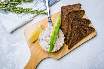 forshmak of herring with black bread