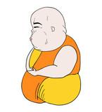 man meditating draw