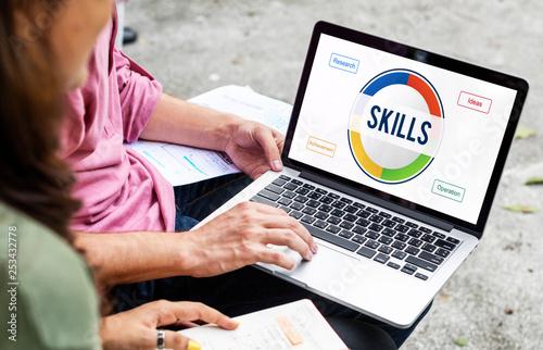 Leinwanddruck Bild Online learning