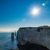 White cliffs of Old Harry Rocks in Dorset