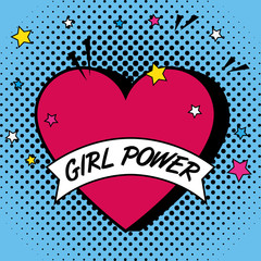 fashion heart with girl power message