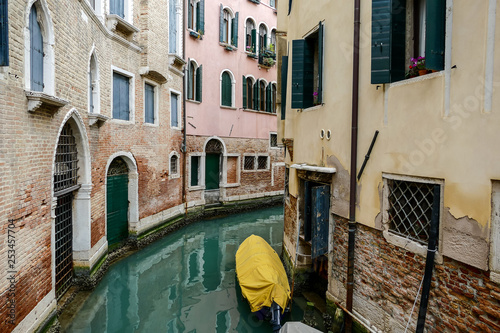 obraz lub plakat Photo View in Venice City During the Carnival Holiday