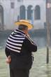 Gondolier in Venedig