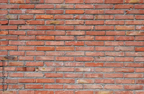 red brick wall texture - 253461325