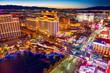 Leinwandbild Motiv Main street of Las Vegas-is the Strip in evening time.