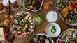 Brunch, Buffet, Abendessen, gesund