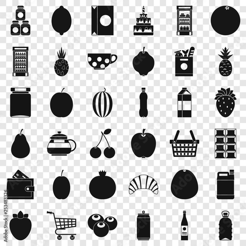 Food and drink icons set. Simple style of 36 food and drink vector icons for web for any design © ylivdesign