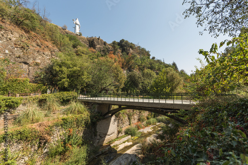 Bridge in botanical garden of Tbilisi, Georgia 2018 summer - 253519576