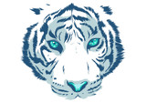 white Tiger Eyes Mascot Graphic in white background
