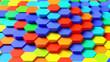 Hintergrund Struktur aus vielen bunten Hexagonen