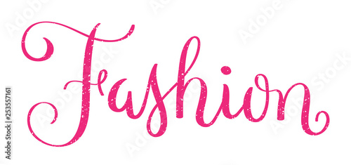 FASHION pink distressed hand lettering banner