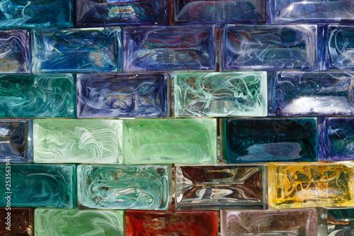 A glass brick wall background - 253563941