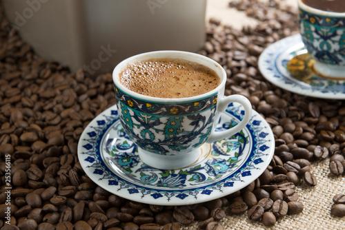 Traditional Turkish Coffee Close-up - 253566115
