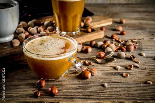 Homemade hazelnut coffee latte © ricka_kinamoto
